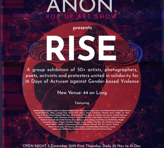 ANON. 02 Rise exhibition poster