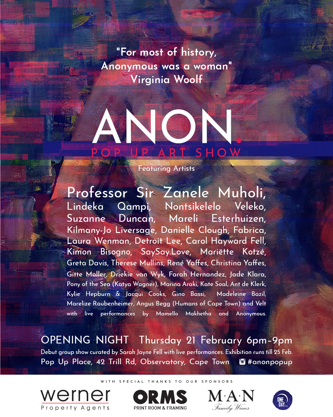 ANON. 01 exhibition poster